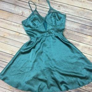 Satin Blue 💙 Mesh Dress
